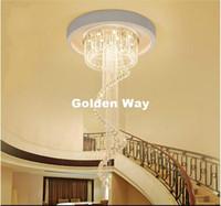 جديد وصول الحديثة LED K9 كريستال الثريا تعليق كريستال تدوير فيلا السلالم قلادة الإضاءة تناول الطعام مصباح غرفة تزيين المنزل Droplight