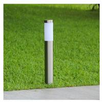 LED Outdoor Rasenlampe IP65 wasserdicht 12V 110V 220V E27 Garten Edelstahl Lichter Innenhof Lichter Landschaftslampe