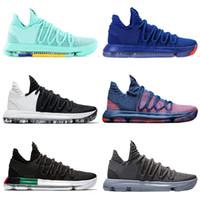 c7da5f483f71 New Arrival. 2019 Zoom KD 10 Multi-Color Oreo Numbers BHM Igloo Men  Basketball Shoes 10s X Elite ...