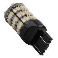 10X T20 7443 W21 / 5W LED 브레이크 안개 운전 주차 전구 듀얼 컬러 화이트 / 앰버 스위치 백 60SMD 차량 신호 테일 라이트