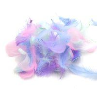 100 шт. / пакет перья оптом 100 шт. маленький Лебединый плюмаж пушистые красочные натуральные гусиные перья для ремесел платье обрезка ювелирных изделий