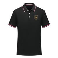 2020 camisas de la MLS Los Angeles FC Polo Polo Fútbol Fútbol camisa 2020 2021 Los Angeles FC Camiseta de manga corta del polo de las tapas Ventiladores