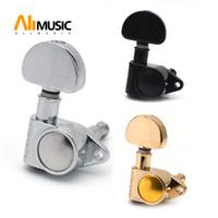 Gitarre Sealed Fan-förmige Tuning Pegs Tuner Mechaniken für Akustik- und E-Gitarre Gitarren-Teile Schwarz / Gold / Chrom