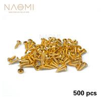 Naomi غيتار مسامير 500 قطع 11 ملليمتر * 6 ملليمتر ل pickguard الخلفي لوحة جبل diy luthier أداة pickguard برغي غيتار الملحقات