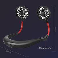 TOP1 COSTWAY Portable Hanging COU Fan Sport Voyage Lazy pliant recharge USB rechargeable Mini ventilateur