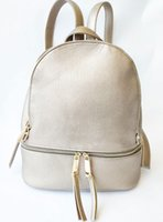Oro clour mujeres de cuero genuino mochila cremallera mochilas escolares para adolescentes niñas bolso femenino Mochila Feminina