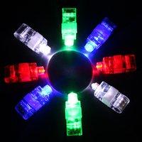 4pcs / set Finger lumière brillant Neon bâton laser Finger Poutres LED coloré anneau lumineux Toy Glow danse Toy Shinning Party Anneau d'alimentation VT0101