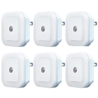 Mini Auto LED Night Light Plug-in LED Night Light com sensor Dusk-to-Dawn Luzes noturnas automáticas Adequado para escadas do banheiro do quarto