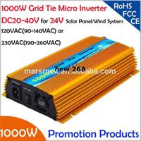 Freeshipping !! 1000 W 24 V Izgara kravat mikro invertör, DC20V ~ 40 V, AC90V-140V veya 190 V-260 V için 1200 W 24 V Güneş paneli ve Rüzgar Enerjisi!