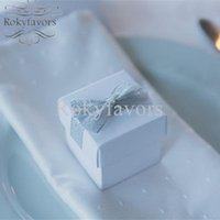 30PCS 2inch Square White Candy Boxes Wedding Favors Annivers...