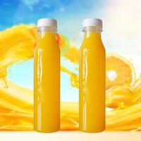 Bottiglia di plastica da 400ml Bottiglia addensata trasparente a prova di perdite Bottiglie di succo di PET robusto con coperchio contenitore rotondo Sicurezza 1xk BB