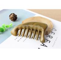 Épaissi et peigne portable avec des dents grossières, peigne en bois, peigne de lait, le cuir chevelu de massage, antistatique