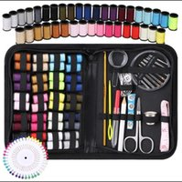 travel sewing box kit sewing thread stitches knitting needle...