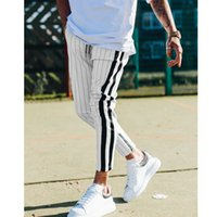 Fashion Men England Style Striped Pants Male New Long Pencil...