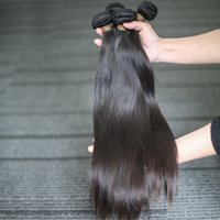 BeautyStarQuality primas vírgenes Inidan malasia natural del pelo recto 100% de la cutícula Alineados brillante glamour pelo trama de las extensiones