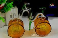 Grande narghilè bicicletta bong di vetro all'ingrosso del bruciatore a nafta Pipes bicchiere d'acqua piattaforme petrolifere per i fumatori