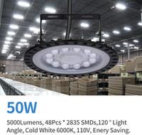 Luz LED High Bay Light 50w 5000LM AC 110 V Luminária Luminária 6000K Comercial Commercial Stand Incluído [250W MH / HPS equivalente]