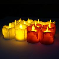 LED Flameless Bougeoir Tea Tea Light Pillle Bougie Tealight Battery Openter une lampe de bougie de mariage fête d'anniversaire de mariage Décoration de Noël VT1722