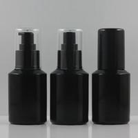 60ml Negro recargable de prensa de cristal líquido de la bomba botella del aerosol del envase del perfume del atomizador del recorrido, botella de loción Vidrio Con Bomba