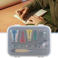 바느질 개념 도구 패브릭 바이어스 바인딩 테이프 메이커 키트 패치 워크 바인더 풋 AWL 클립 핀 가정용 DIY 퀼팅 도구 AIA99