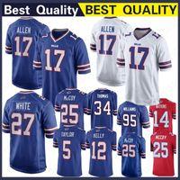 Buffalo Bills 17 Josh Allen Jersey 12 Jim Kelly 25 LeSean McCoy 34 Thurman  Thomas 99 Marcell Dareus 95 Kyle Williams d0f3121af