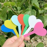 Botânica plástico planta do coração Etiquetas marcador Anti Aging Muitas cores puras Cor 5 * 8,3 Cm Não é fácil a desaparecer Etiquetas Garden 0 05cx C2