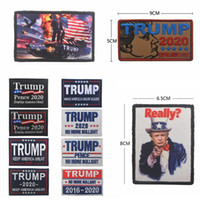 Ricamo Trump 2020 cap Patch magic sticker Bracciale Make America Great Again Badge Gancio loop Tactical Brassard Accessori AAA2062