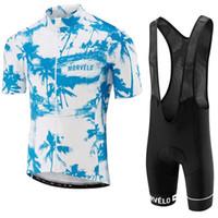남자 사이클링 저지 모블로 팀 Summe 짧은 소매 자전거 셔츠 턱받이 반바지 세트 레이스 맞는 자전거 의류 공장 직접 판매 Y050906
