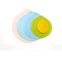 Coperture del silicone ciotola resistente al calore coperchi Keeping Microonde copertura fresca Seal aspirazione per bocce Vasi Coppe Accessori Cucina JK2003