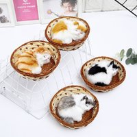 Simulation Stuffed Sleep Cats Model Plush Animal Make Sounds...