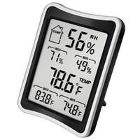 LCD البيئة ميزان الحرارة الرقمي رطوبة الرطوبة درجة الحرارة الشاشة متر الكبير داخلي الحرارة المنزلية ورطوبة DBC VT1144