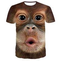 Erkek T-Shirt Çocuk / Yetişkin İlginç Maymun Kartal 3D Baskılı T Gömlek Çocuklar Yaz Kısa T-shirt Harajuku Tshirt Genç Fortniter Tops