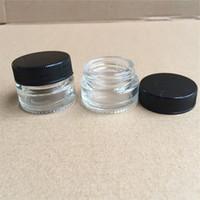 Conteneurs de cire antiadhésifs Boîte de verre 5ml Conteneur Pors de grade alimentaire DAB Outil de stockage Porte-huile pour vaporisateur Vape FDA approuvé