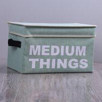 Faltbare Kleidung Storage Baskets Box Portable Brief drucken Baumwolle Leinen Folding-Speicher-Beutel-Spielzeug-Snack-Speicher-Korb Medium DBC DH0801-1