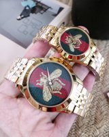Luxury watches Embroidered watches Classic bee patterns Watc...