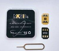 MKSD 4 Helt ny 3m lim ICCID Lås upp SIM för IOS 14 13.5.1 LTE 4G IPHONE 5S / SE2 / 6/7 / 8 / X XS XR XS MAX 11 PRO MAX USIM VSIM Gevey Pro