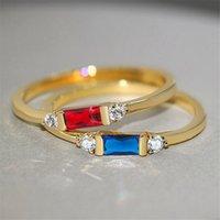 Fingerringe Set Engagement Frau Cubic Zirkonia Ring Für Damen Liebhaber Party Hochzeit Schmuck Mode Lässig Zubehör R857
