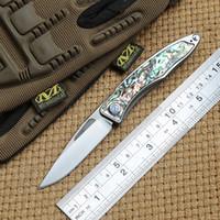 Nuevo Mini CR MNANDI M390 Blade TC4 Titanium Mango Cuchillo plegable Lavadora de cobre Camping Pocking Pocking Survival EDC herramienta Cuchillos