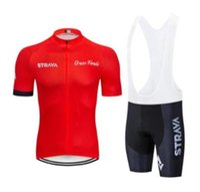 2019 STRAVA 사이클링 저지 설정 여름 빠른 건조 팀 자전거 의류 로파 Ciclismo MTB 자전거 의류 야외 짧은 스포츠 정장 lzfshop