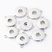 18mm lega d'argento Noosa Ginger Snap Base accessori intercambiabili per gioielli Snap Button Base gioielli fai da te accessorio jm002pf
