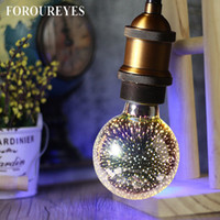Colorful 3d Light Bulb Decorative Led Lamp E27 85v- 265v 4w S...