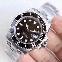 Relojes de pulsera de fábrica U1 Sapphire Negro Cerámica Bisel de acero inoxidable 40mm Fecha Sub Mecánica Mecánica Relojes Relojes