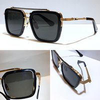 Nuevos siete gafas de sol hombres Top Top Metal Vintage Estilo de moda Marco cuadrado Protección al aire libre UV 400 Lente Eyewear con estuche vendido por