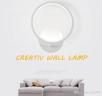 20 سنتيمتر 12 واط أدى أضواء الشمعدان الجدار الحديثة لغرفة النوم دراسة شرفة غرفة المعيشة الاكريليك تزيين المنزل أدى الجدار ضوء مصباح تركيبات
