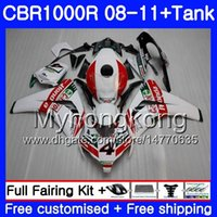 Body +Tank Castrol red hot For HONDA CBR1000 RR CBR 1000 RR 08 09 11 277HM.14 CBR1000RR 08 09 10 11 CBR 1000RR 2008 2009 2010 2011 Fairings