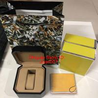 Qualità migliore nero colore del legno scatole regalo 1884 Carte di legno Scatola nera Opuscoli Scatola di legno per orologio include nuovo certificato Bag