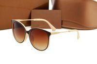 1719 Cолнцезащитные очки роскошь Женщины Марка очки Открытый Оттенки ПК Frame высокого класса моды марки Classic Lady Солнцезащитные очки Зеркала для