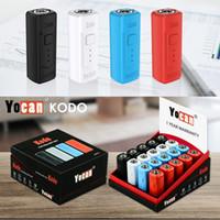 Originale YOCAN KODO batteria mod 400mAh e batterie sigarette preriscaldare VV Vape penna per 510 carrelli cartucce olio 4 colori 20pcs / box