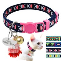 wholesale Personalized Cat Collar With Bell Customized Kitte...