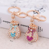 2019 Bulk Lots 4 Colors Crystal Mini Pocket Luxury Keychain ...